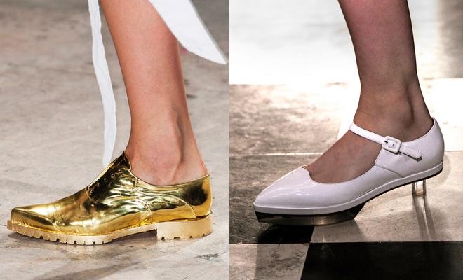 scarpe bianche oro