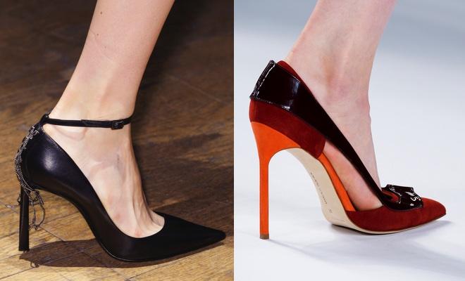 Scarpe a punta tacco alto