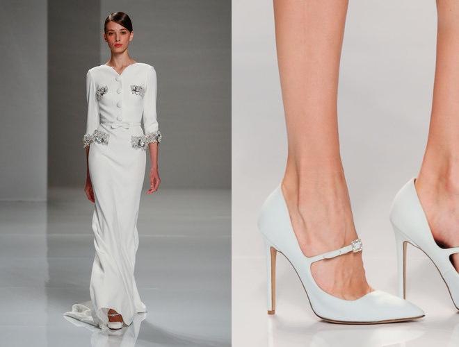 abito e scarpe sposa alta moda