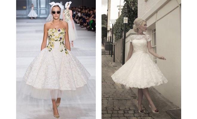 abito e scarpe sposa vintage