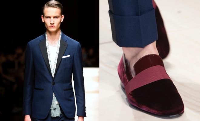 abito uomo scarpe rosse