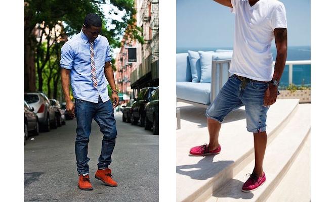 jeans e scarpe rosse uomo