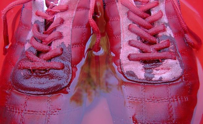 lavare scarpe