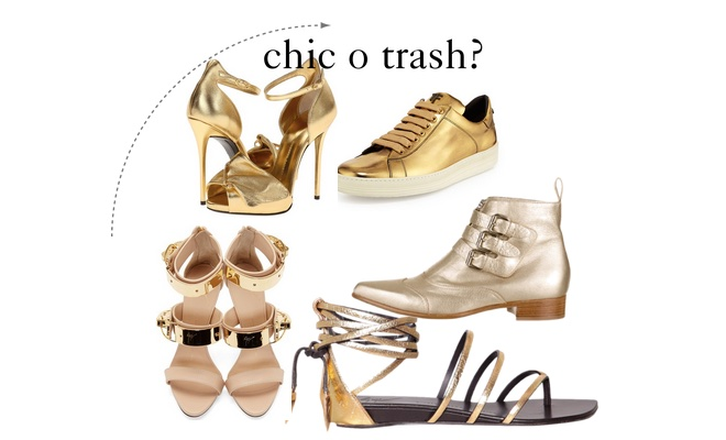 scarpe oro