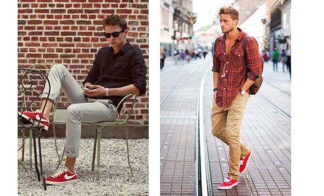 scarpe rosse sportive uomo