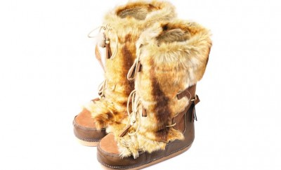 stivali da neve con pelliccia
