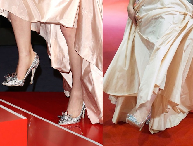 Lily James scarpe Jimmy Choo