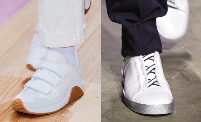 indossare le scarpe bianche