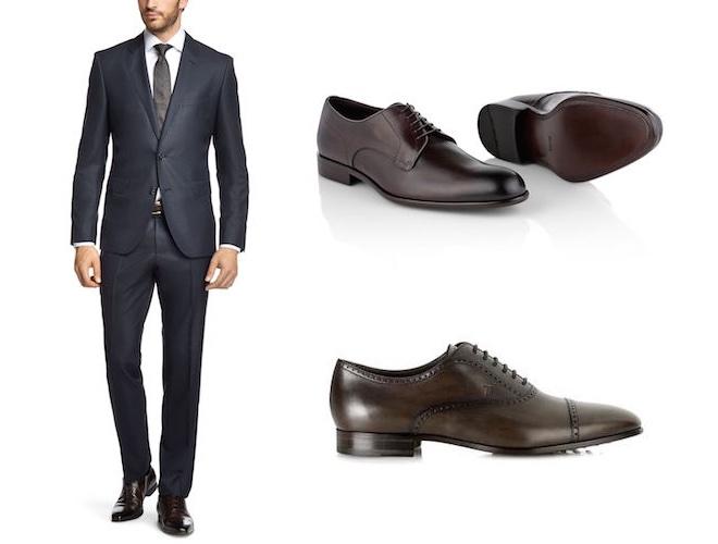 abito blu scarpe