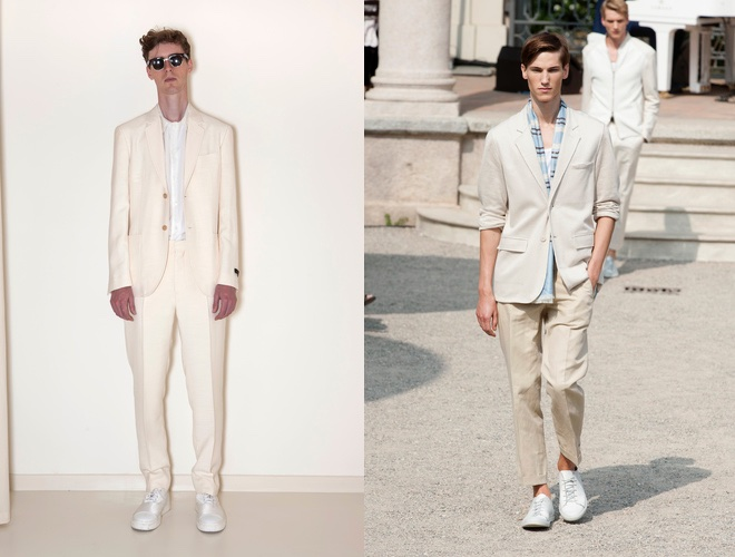 scarpe bianche e vestito uomo estate 2015