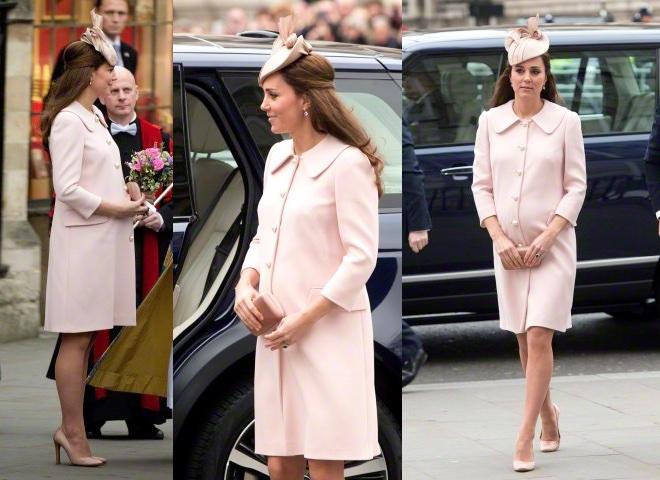 kate middleton cappotto scarpe rosa