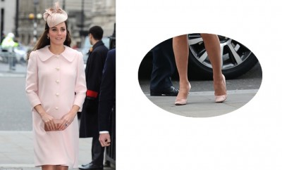 kate middleton incinta cappotto scarpe rosa