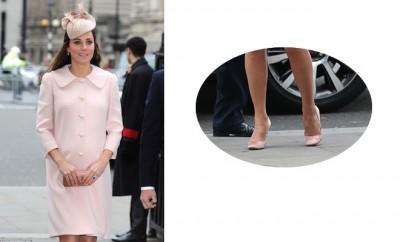 kate middleton incinta cappotto scarpe rosa