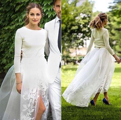 olivia palermo scape e vestito matrimonio