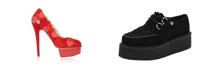 scarpe con la suola alta platform