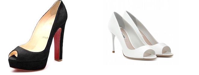 scarpe aperte in punta- peep toe o open toe
