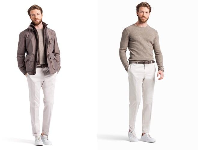 scarpe bianche e pantaloni bianchi uomo estate 2015