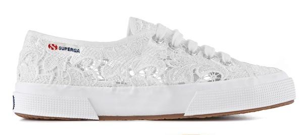 scarpe pizzo bianco  Superga