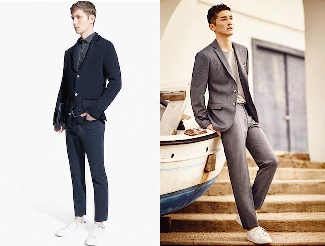 Vestiti Uomo Sportivo Elegante   Modi per indossare le scarpe bianche alte 718cb98db74