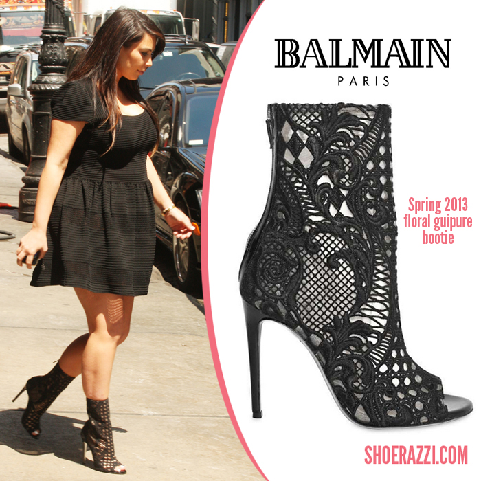 Kim-Kardashian-Balmain-floral-guipure-bootie