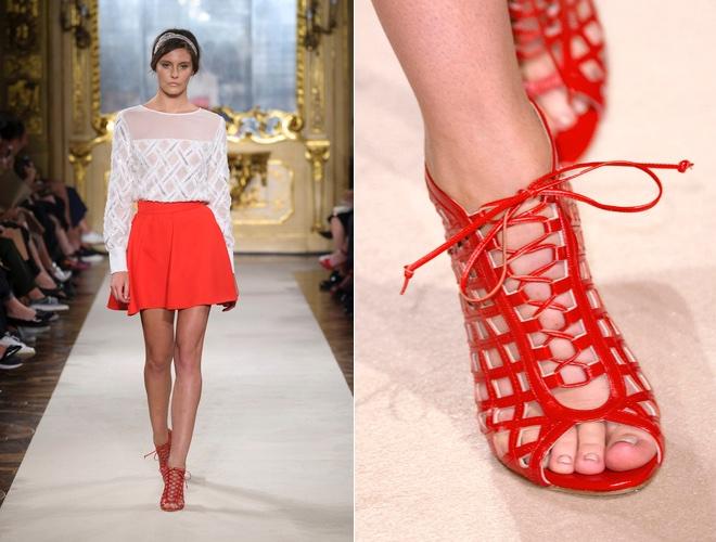 Sandali rossi elisabetta franchi