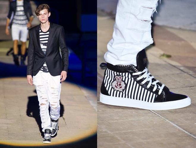 Scarpe e jeans strappati uomo estat