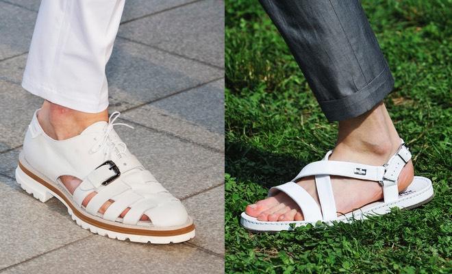 Scarpe e sandali bianchi uomo estate 2015