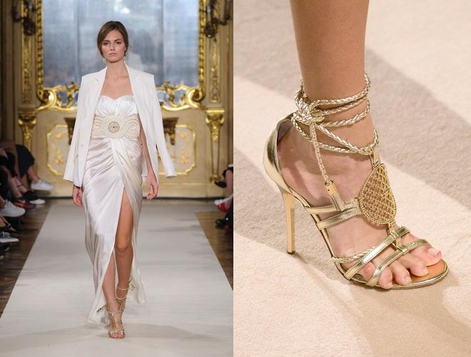 vestito e sandali elisabetta franchi