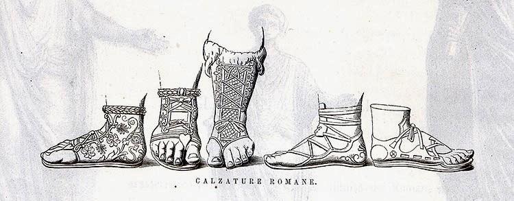 calzature antichi romani