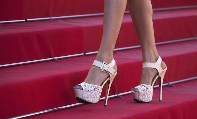scarpe festival di Cannes red carpet