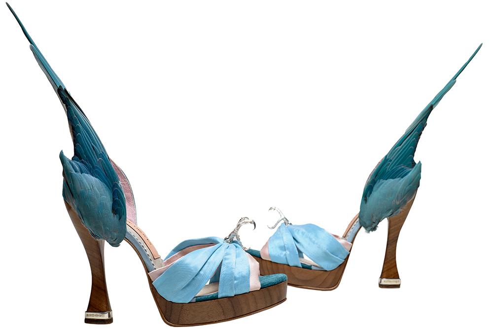 Caroline Groves 'Parakeet' shoes 2014.
