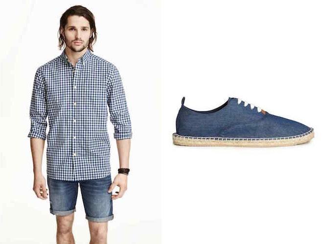 espadrillas con i lacci in  jeans