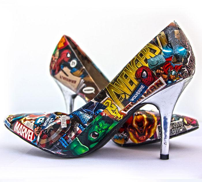 scarpe con i tacchi marvel