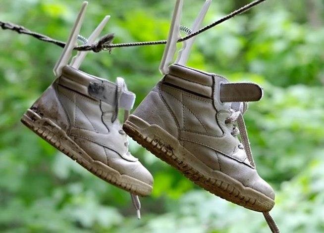 scarpe bagnate