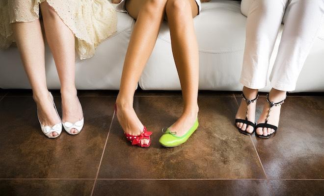 scarpe circolazione gambe