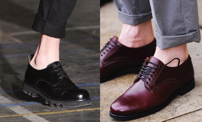 scarpe pantaloni sopra la caviglia