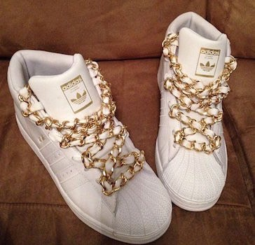 sneaker lacci catene