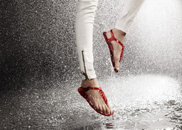 sandali pioggia