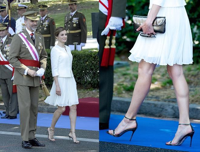 Letizia di Spagna vestiti e scarpe