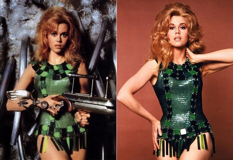Jane Fonda in Barbarella (1968), vestiti di Paco Rabanne