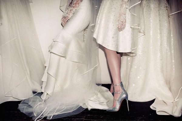 scarpe sposa argento louboutin