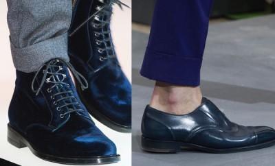 Moda uomo scarpe blu