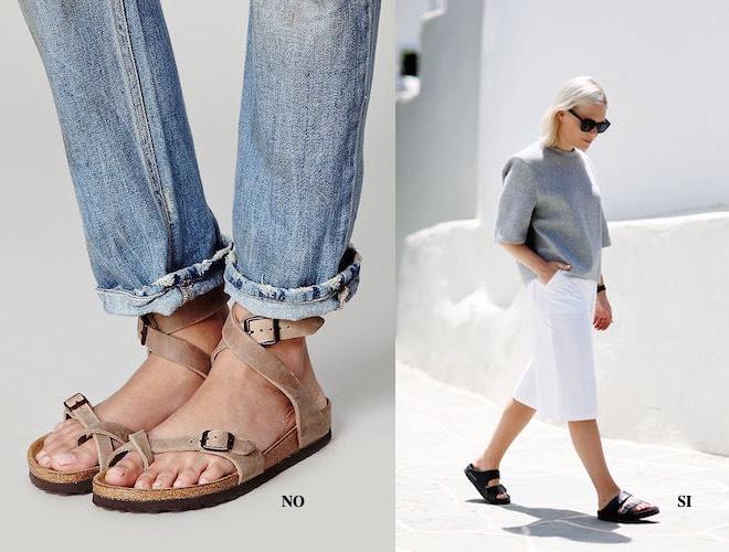 Sandali piedi lunghi