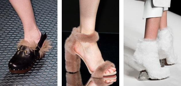 scarpe di pelliccia inverno 2015