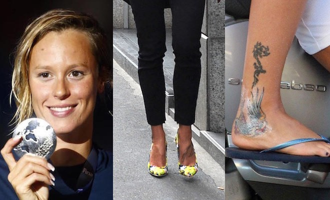 Federica Pellegrini scarpe tatuaggi