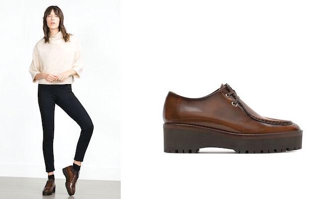 Scarpe Zara autunno inverno 2015-2016