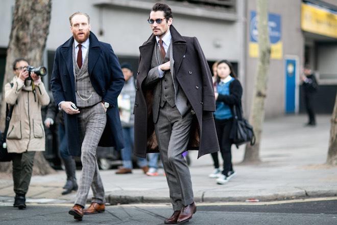 Londra street style moda uomo inverno 2015