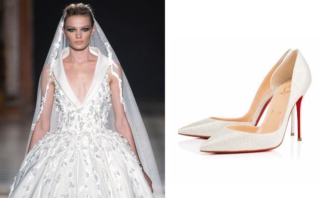 Scarpe e abito da sposa inverno 2015-2016