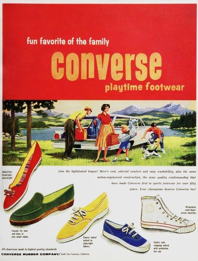converse pubblicità vintage