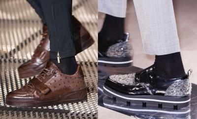 scarpe uomo pantaloni sopra la caviglia